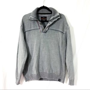 Weatherproof - gray distressed perfectly knit
